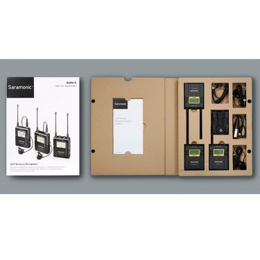میکروفن یقه ای بیسیم (Saramonic UwMic9 (TX9 +TX9 +RX9،مدیارسان،تجهیزات صدا،تجهیزات فیلمبرداری،تجهیزات صدابرداری،سارامونیک،میکروفن،میکروفن موبایل،خرید میکروفن،میکروفن یقه ای،میکروفن سارامونیک،میکروفن دوربین،میکروفن داینامیک،میرکوفن لپ تاب،میکروفن بیسیم،میکروفن یقه ای بیسیم
